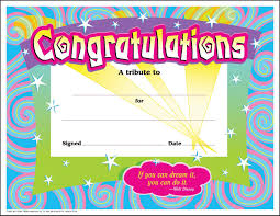 Congratulations Certificate 24 Congratulations Award Large Swirl Certificate Award Pack By 24