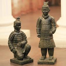traditional china features antique ornaments qin terracotta warriors and horses figurines sculpture terracotta china souvenirs