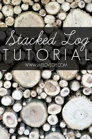 faux stacked log fireplace tutorial
