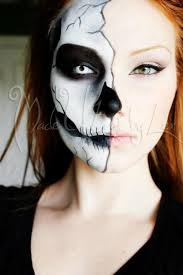 love this think i might do this so i wont have to get dressed up skull makeuphalf