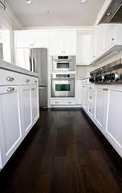 Impressive Dark Hardwood Floors Kitchen Wood E Inside Design Inspiration