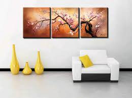 3 panel abstract modern canvas wall art pink cherry blossom chinese picture oil painting on canvas for living room home deco in painting calligraphy from  on modern canvas wall art abstract with 3 panel abstract modern canvas wall art pink cherry blossom chinese