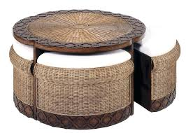 wicker side table coffee tables captivating brown round unique wicker coffee table ideas to complete living