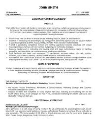 Brand Manager Resume Sample Best Of Assistant Manager Resume Example Resume Example Real Estate