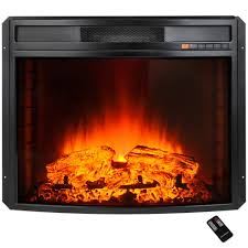 akdy 28 in freestanding electric fireplace insert heater in black with free standing electric fireplace