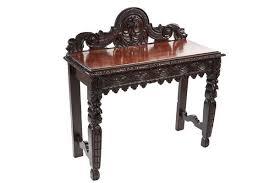 oak side table. ANTIQUE CARVED OAK SIDE TABLE Oak Side Table
