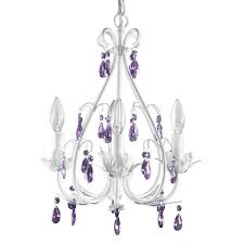 charming kids crystal chandelier 7 sophia 4 arm purple girls ceiling light lighting nursery firefly jpg v 1507229640