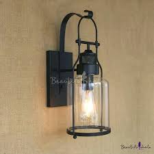 rustic sconces wall sconce lighting intended for decorating loft style industrial metal lantern in black regarding