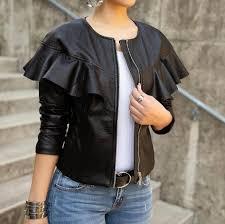 free 2019 new fashion spring and autumn women s brand imitation soft leather long sleeved jacket zipper design motorcycle pu jacket