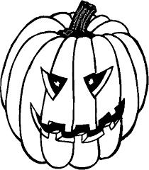 Kleurplaten Halloween Pompoenen