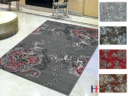 red grey rug handcraft rugs lava red gray silver black abstract area rug modern contemporary flower red grey rug