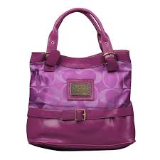 Coach Buckle Logo Medium Purple Satchels EMU