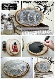 chalkboard on a wood slice found on craftaholicsanonymous net