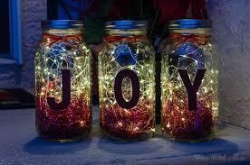 Christmas Decorated Mason Jars Make Christmas Mason Jar Twinkle Light Luminaries Time With Thea 39