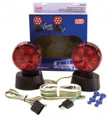 grote industries rv marine utility lights magnetic led towing kit