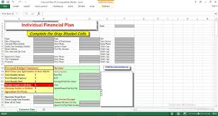 Excel Personal Finance Personal Financial Management Plan Template Engineering