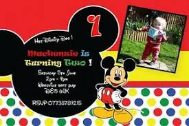 mickey mouse party invitation details about personalised any age photo birthday mickey mouse party invites inc envelopes