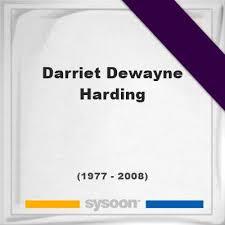 Darriet Dewayne Harding (1977-2008) *31, Grave #57813260 - Sysoon