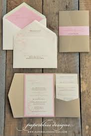 pocket wedding invites blush pink peony wedding invitation suite pink and gold wedding