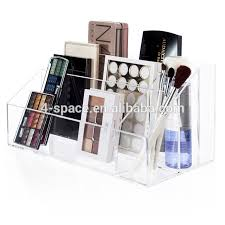 Acrylic makeup eyeshadow compartment box Blush lipstick storage tray Clear