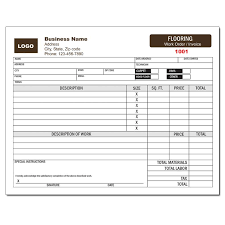 Contractor Invoice Samples Flooring Contractor Invoice Work Order Designsnprint
