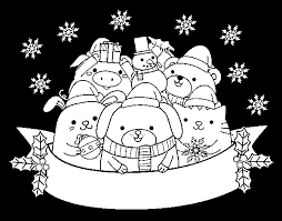 Disegno Di Animali Di Natale Da Colorare Acolorecom