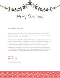 Christmas Letterhead Template Green Garland Christmas Letterhead Templates By Canva