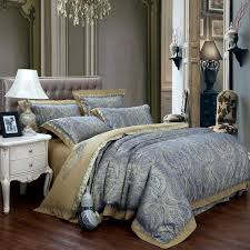 new fashion home textile satin the wedding jacquard 100 luxurious bedding set embroidered pillowcase duvet cover bed sheets gold bedding net