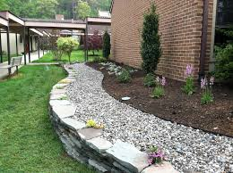Interior Garden Design Using Stones Inspirational Landscaping With River  River Rock Garden Edging Ideas River Rock