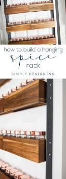How to Build a DIY Spice Rack - a fun industrial hack to turn pretty wood