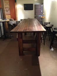 Barnwood Bar custom 3x12 bar height banquet table made from reclaimed barn 2858 by guidejewelry.us