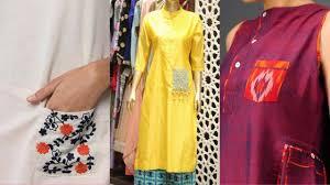 Latest Pocket Kurti Design New Latest Pocket Kurti Kurta Frock Designs 2018 Cotton Kurti Style