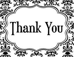 Thank You Black And White Printable Thank You Black And White Black Clipart Wikiclipart