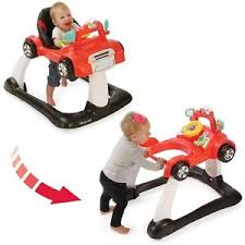 New Baby Toy Adjustable Seat 2 in 1 Activity Walker walk behind Car ...