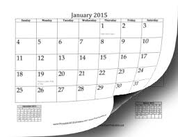 free printable 2015 monthly calendar with holidays printable 2015 calendar