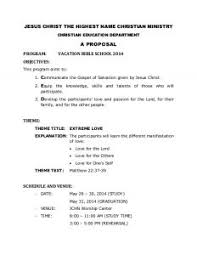 Program Proposal Template | Template Business