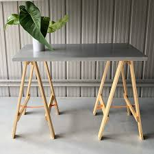 how to build a trestle table little