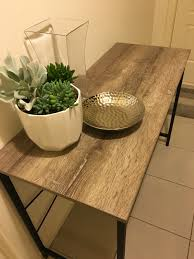 Kmart Kitchen Window Curtains Kmart Hack On The Side Table With Wood Grain Contact On Top