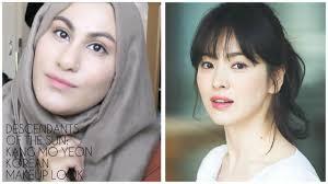descendant s of the sun kang mo yeon 송혜교 natural korean makeup tutorial 태양의 후예 ambreenk