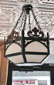 pair of antique gothic or moorish pendant chandeliers