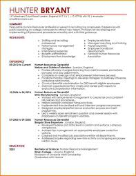 11 Resume Template For Human Resources Skills Based Resume