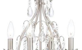 brushed nickel crystal chandelier chandeliers pendant lighting top orb 6 light