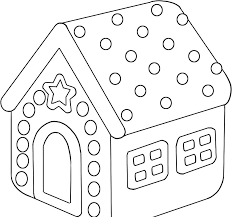 Gingerbread Man House Coloring Pages Gingerbread House Coloring