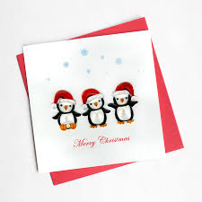 Penguin Christmas | HD611 - Quilling Card