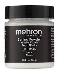 amazon com mehron makeup setting powder 1 oz ultra white face powders beauty