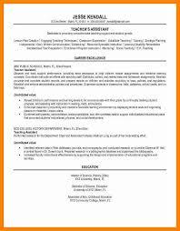 9 Graduate Teaching Assistant Resume Letter Signature