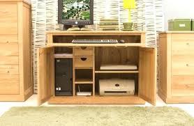 atlas oak hidden home office. Hidden Home Office Desk Solid Oak Modern Furniture Hideaway Computer Baumhaus Atlas