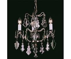 louvre three light crystal antique brass chandelier impex cp06003 03 ab
