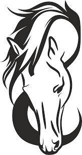 quarter horse head clip art. Brilliant Horse Horse Head Silhouette Intended Quarter Clip Art Q