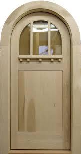 c404rt round top glass panel craftsman door
